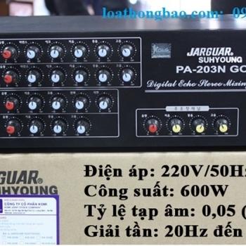 Amply jarguar PA 203N gold - Amply karaoke nhập khẩu chất lượng cao