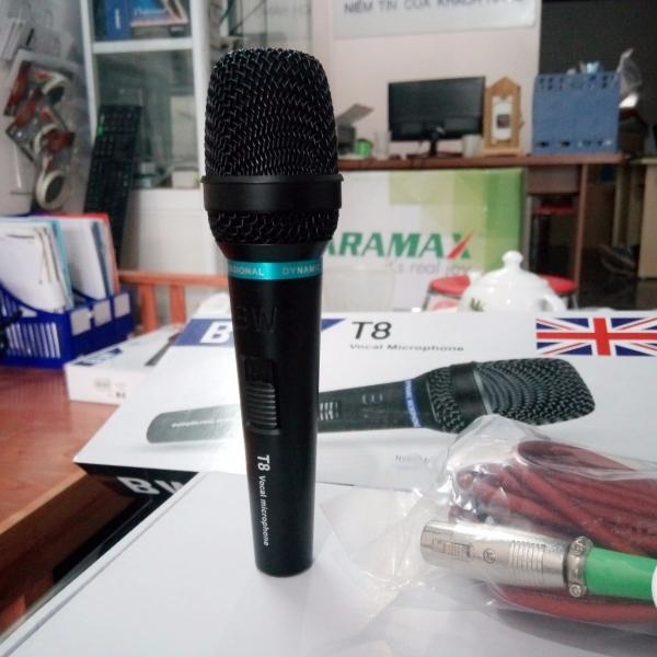 Micro karaoke có dây BW T8 micro chuyên dụng karaoke gia đình giá rẻ.