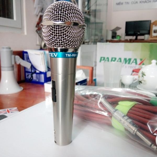 Micro karaoke TEV TM 989 bắt âm tốt, chống hú hiệu quả