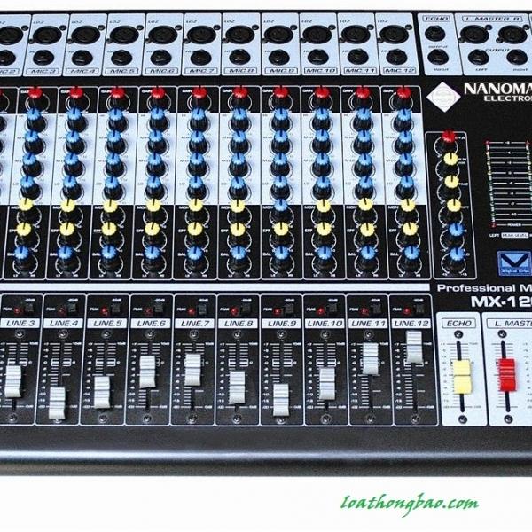 Bàn trộn Mixer Nanomax MX 1202S âm thanh chuyên nghiệp