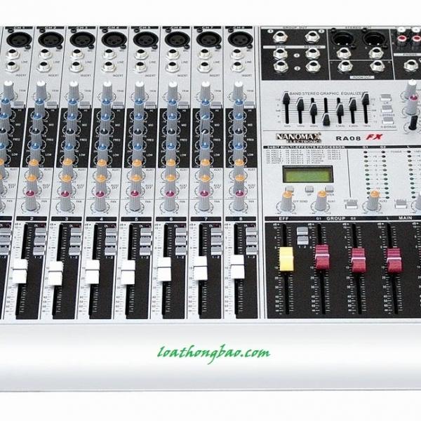 Bàn trộn Mixer Nanomax RA 08 âm thanh đẳng cấp