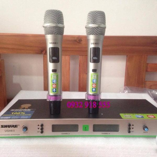 Micro không dây Shure UGX8 II chống hú hiệu quả, giá rẻ