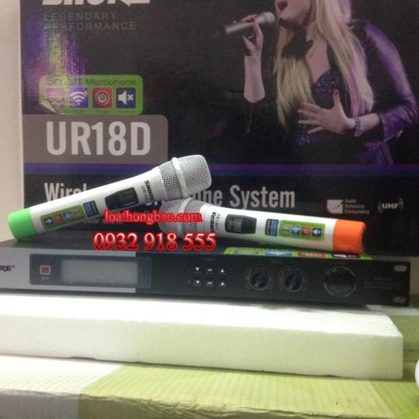 Micro không dây Shure UR18D chống hú hiệu quả, giá cạnh tranh nhất