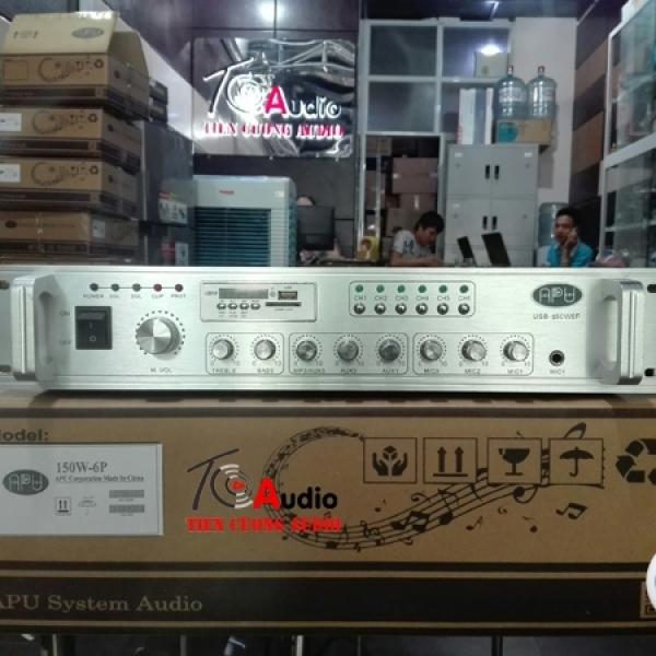 Amply Liền Mixer 6 Vùng APU USB 150W