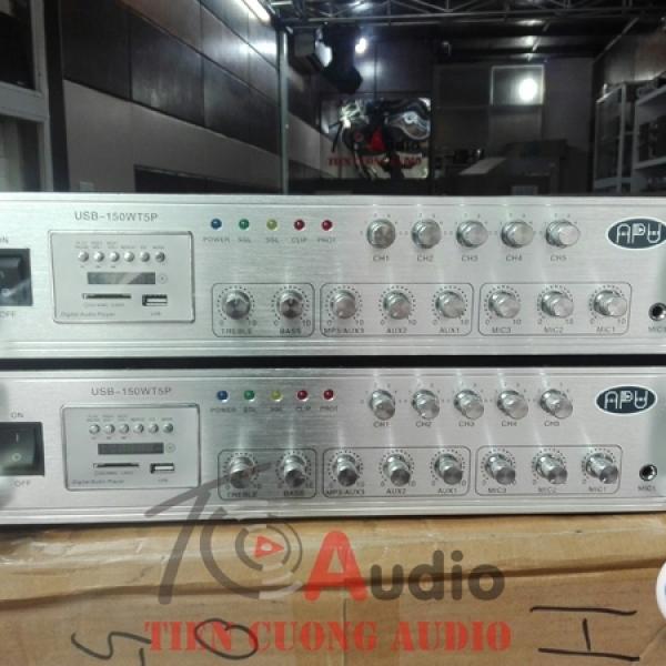 Amply APU USB 150WT5P phân 5 vùng điều chỉnh âm lượng từng vùng