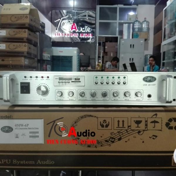 Amply APU USB 450W phân 6 vùng âm thanh riêng biệt