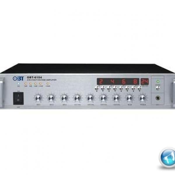Amply chọn 4 vùng OBT-6154 công suất 150W bảo hành 3 năm, giá ưu đãi