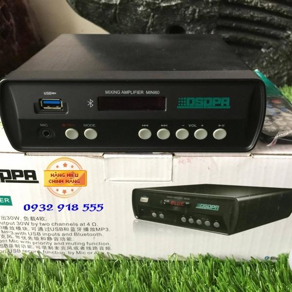 Amply Mixing Amplyfier Mini60 Amply tích hợp Bluethooth chuyên nghiệp