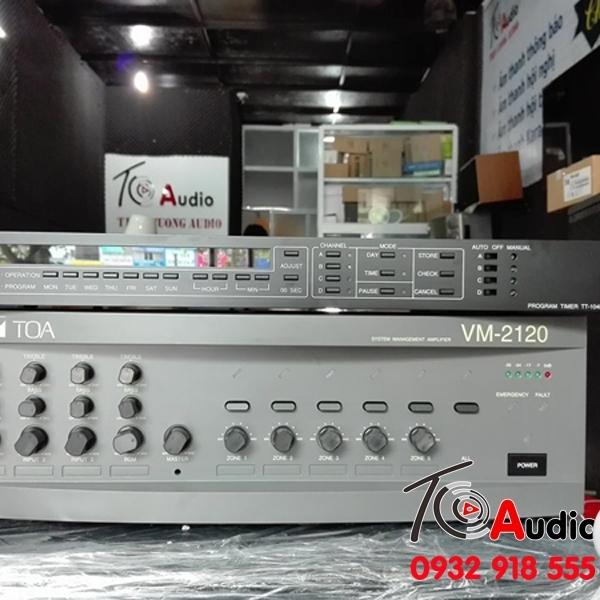 Amply phân 5 vùng Toa VM 2120 công suất 120w hàng chính hãng